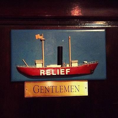 Boat Photograph - Men's Room by Natasha Marco