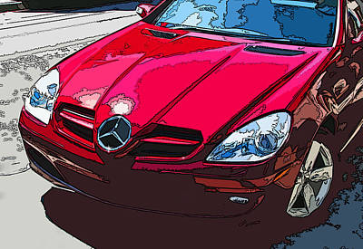 Mercedes Benz Slk Nose Study Print by Samuel Sheats