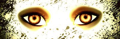 Mermaid Eyes Of Gold Print by Amanda Yauch