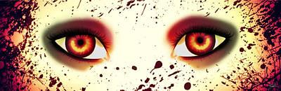 Mermaid Eyes Of Red Print by Amanda Yauch