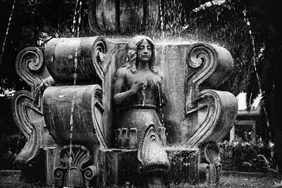 Mermaid Fountain Print by Tom Bell