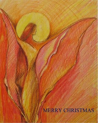 Modernart Painting - Merry Christmas by Brigitte Hintner