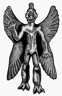 7th Century Photograph - Mesopotamian Demon by Granger