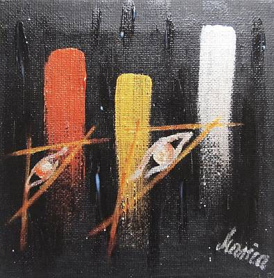 Telepathy Painting - Message From The Future II. by Marianna Mills