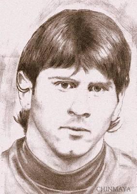 Messi Drawing - Messi Mania by Chinmaya Nayak