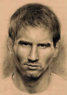 Messi Drawing - Messi by Martin Velebil