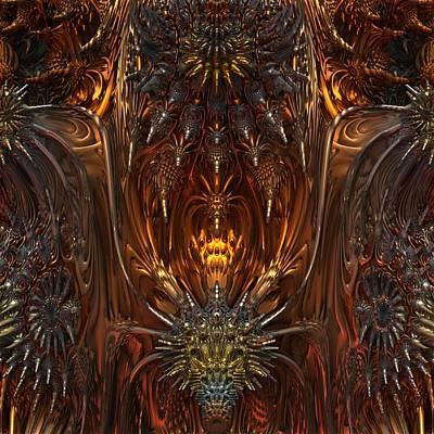 Metal Dragons Print by Lyle Hatch