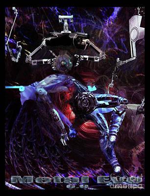 Metal Eve Print by Rebecca Stephens