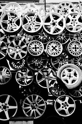 Romania Photograph - Metal Wheels by Ion-Bogdan DUMITRESCU