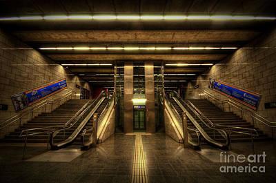 Metro Underground - Passeig De Gracia Print by Yhun Suarez