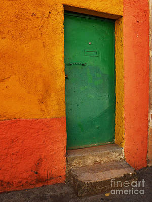 Yellow Photograph - Mexican Door 46 by Xueling Zou