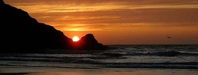 Meyer's Beach Sunset Print by Tatiacha  Bhodsvatan
