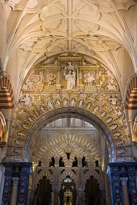 Relief Carving Photograph - Mezquita Cathedral Interior In Cordoba by Artur Bogacki