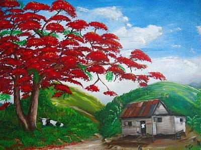 Casita Painting - Mi Bohio by Toyo Perez