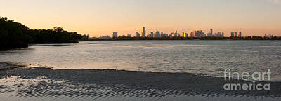 Miami Skyline Photograph - Miami At Low Tide by Matt Tilghman
