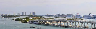 Miami Port Panorama Original by Dejan Jovanovic