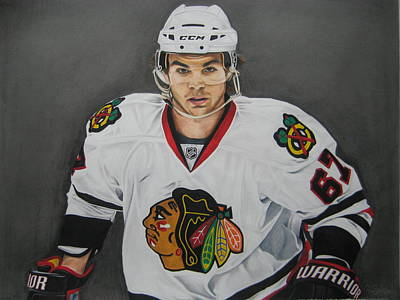 Nhl Ice Hockey Drawing - Michael Frolik  by Brian Schuster