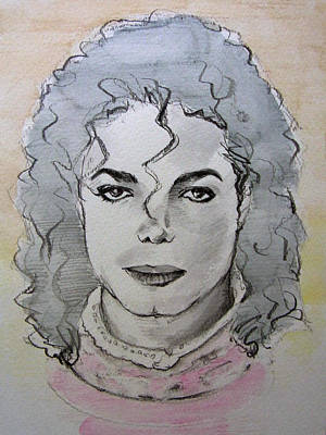Michael Jackson Drawing - Michael Jackson - Planet Michael by Hitomi Osanai