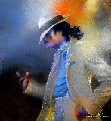 Michael Jackson Mixed Media - Michael Jackson 10 by Miki De Goodaboom