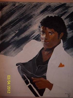 Michael Jackson Print by Elaine Holloway