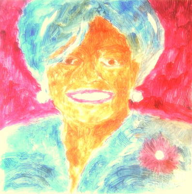Michelle Obama 2 Print by Richard W Linford