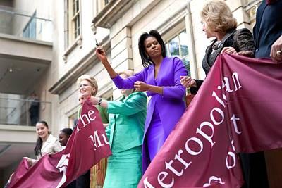 Michelle Obama Cuts The Ribbon Print by Everett