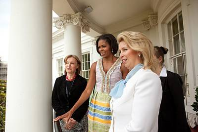 Michelle Obama Hosts First Lady Print by Everett