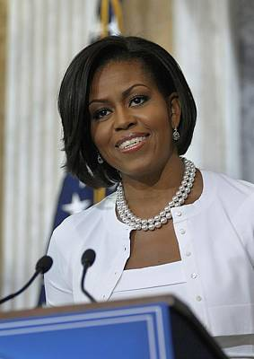 Michelle Obama Photograph - Michelle Obama Visited The Treasury by Everett