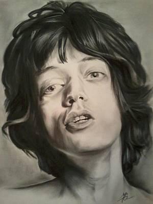 Mick Jagger Print by Morgan Greganti