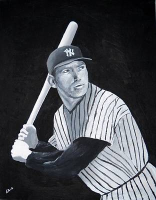 Mickey Mantle Painting - Mickey Mantle by Edwin Alverio
