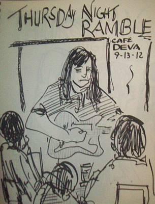 Micole At Thursday Night Ramble  Print by James Christiansen