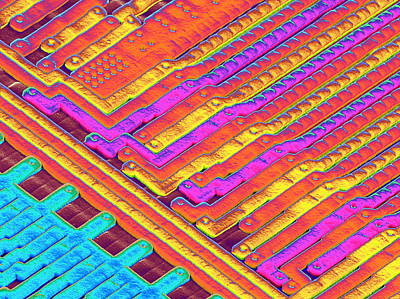 Microchip Surface, Sem Print by Power And Syred