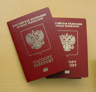 Microchipped Passports, Russia Print by Ria Novosti