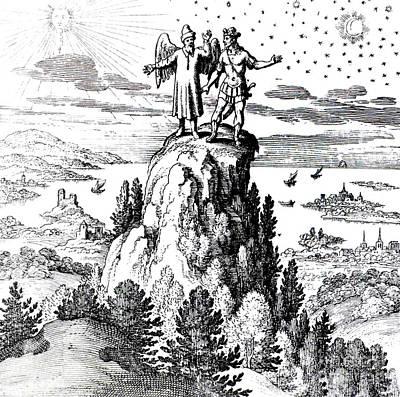 Macrocosm Photograph - Microcosm, Macrocosm, 17th Century by Science Source
