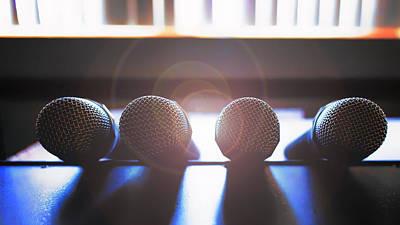 Microphone Flare Print by Bill Tiepelman