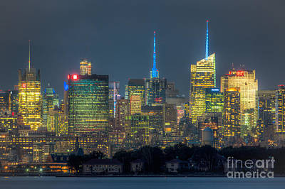 Mid-town Manhattan Twilight I Print by Clarence Holmes