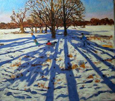 Winter Memories Painting - Midwinter by Andrew Macara