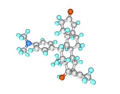 Mifepristone Drug Molecule Print by Laguna Design