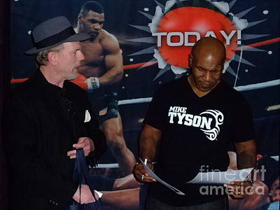 Portrait Photograph - Mike Tyson And Myself At Field Of Dreams In Las Vegas  by Jim Fitzpatrick
