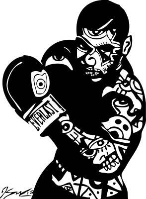 Mike Tyson Print by Kamoni Khem