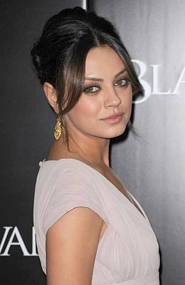 Gold Earrings Photograph - Mila Kunis At Arrivals For Black Swan by Everett