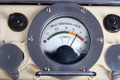Military Radiation Meter Print by Sheila Terry