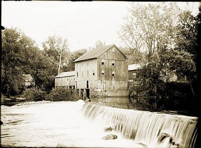 Mill Pond Dam Original by Jan W Faul