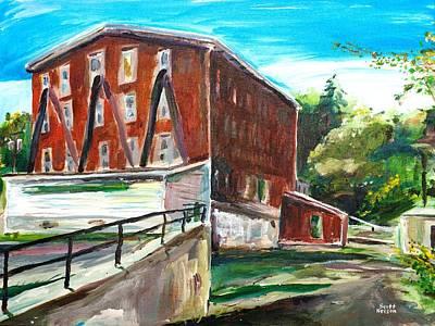 Scott Nelson And Son Painting - Millbury Mill by Scott Nelson