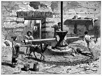 Milling Flour, Historical Artwork Print by Cci Archives