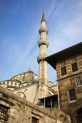 Minaret Of The Blue Mosque Print by Artur Bogacki