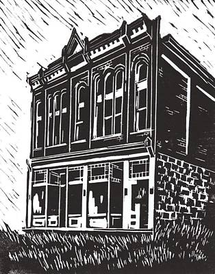 Miners Union Hall Granite Ghost Town Montana Print by Kevin Heaney