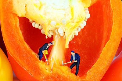 Surreal Photograph - Mining In Colorful Peppers II by Paul Ge