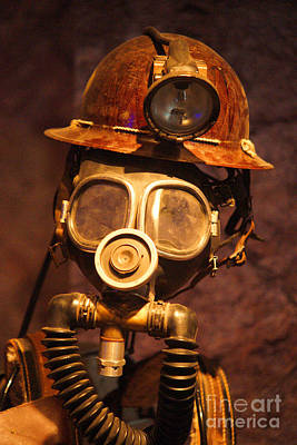 Mask Photograph - Mining Man by Randy Harris