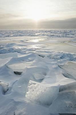 Minnesota, United States Of America Ice Print by Susan Dykstra